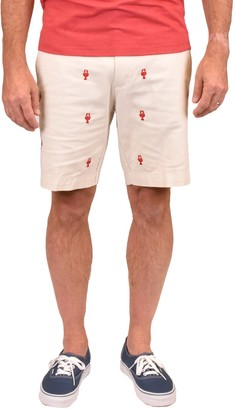 Vintage 1946 Embroidered Stretch Twill Shorts