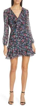 Saloni Jodie Floral Print Silk Minidress