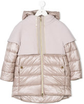 Herno Kids contrast panel padded jacket
