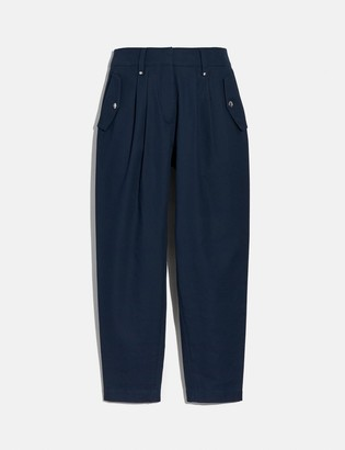 Coach Pleated Trousers