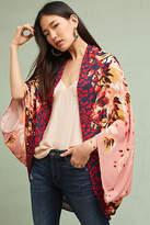 Anthropologie Floral Border Cocoon Kimono