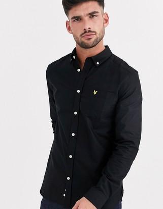 Lyle & Scott oxford shirt in black