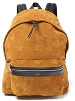 Saint Laurent City California Star Suede Backpack