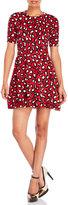 Love Moschino Short Sleeve Leopard Print Flared Dress