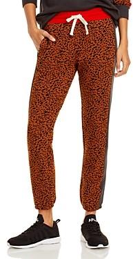 Monrow Leopard Spot Colorblock Sweatpants