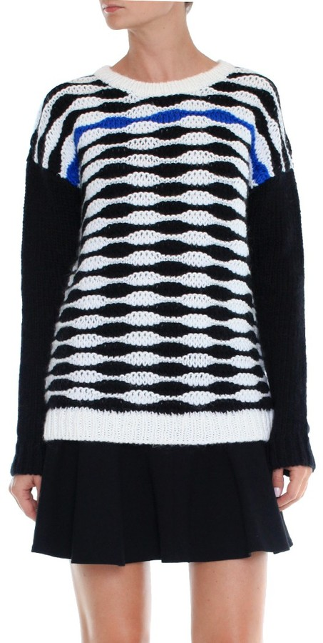 Tibi Wavy Stripe Pullover