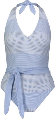 Lemlem Tie-Waist Swim Suit