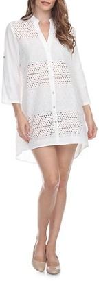 La Moda Clothing Cotton Mini Coverup Tunic