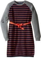 Toobydoo Stephanie Belted Sweater Dress (Toddler/Little Kids/Big Kids)