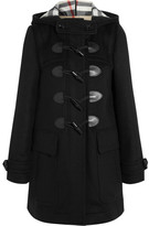 Burberry Hooded Wool-felt Duffle Coat - Black