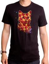 Goodie Two Sleeves Black Pizza Cat Tee - Men's Regular