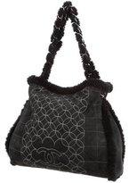 Chanel Quilted Shearling Shoulder Bag