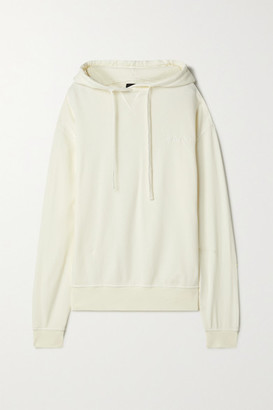WSLY - Embroidered Organic Cotton-blend Jersey Hoodie - Cream