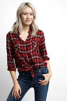 BB Dakota Plaid Knot Front Shirt