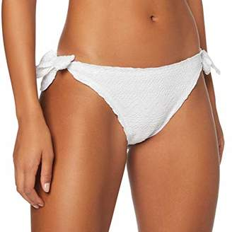 Lovable Women's Goffrato White Bikini Bottoms Not Applicable,12 (Manufacturer Size: Medium)