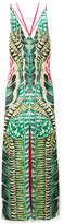 Temperley London Garden Leaf Satin-jacquard Maxi Dress - Green