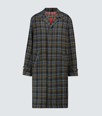 Undercover Long wool checked coat