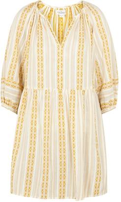 Velvet by Graham & Spencer Nona striped cotton mini dress
