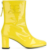 Courreges retro zipped ankle boots