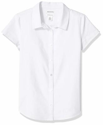 Amazon Essentials Plus Short-sleeve Oxford Shirt Button Pink L(P)