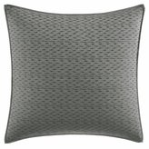 Vera Wang Charcoal Floral Collection Ikat-Embroidered Square Pillow