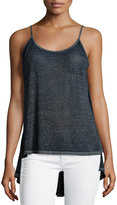 Dex Open-Back High-Low Tank, Navy Burnout