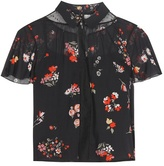 RED Valentino Printed Silk-blend Blouse