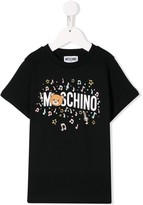 Moschino Kids musical notes T-shirt