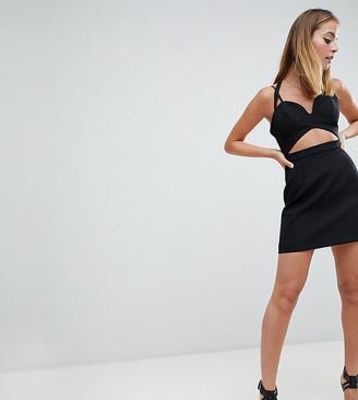Asos DESIGN Petite cutout strappy mini dress