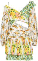 Zimmermann Golden Surfer floral print cutout mini dress