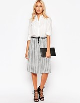 B.young Striped Culottes