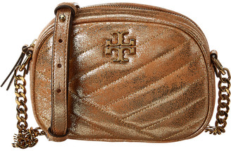 Tory Burch Kira Small Chevron Metallic Leather Camera Bag