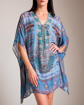 Camilla Stitch of the Condor Short Lace-Up Kaftan