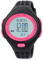 Soleus Women's SR007060P 10K Black and Pink 30 Lap Digital Sports Watch