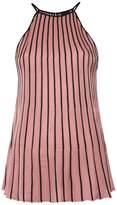 OSKLEN pleated bicolor top