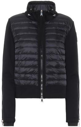 Moncler Cotton-jersey down cardigan