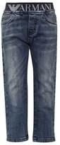 Armani Junior Mid Wash Branded Jean