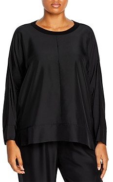 Eileen Fisher, Plus Size Size Long Sleeve Crewneck Top