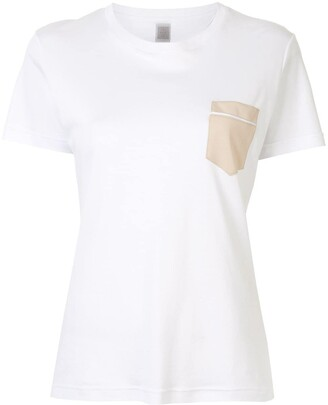 Eleventy contrast pocket T-shirt
