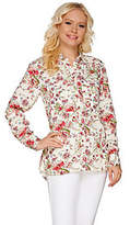 "C. Wonder Classic Floral Print Button Front ""Carrie"" Blouse"