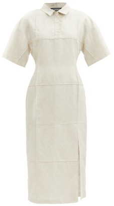 Jacquemus Carro Cotton-blend Short-sleeved Shirt Dress - Light Beige