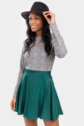 francesca's Cathy Circle Mini Skirt - Green