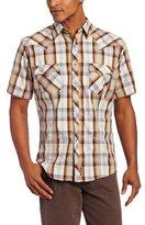 Wrangler Men's Retro Spread Collar Contrast Trim Shirt