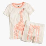 J.Crew Girls' pajama set in giraffe print