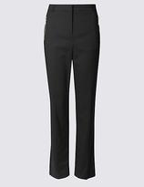 Per Una Cotton Blend Straight Leg Trousers