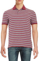 Black Brown 1826 Striped Polo Shirt