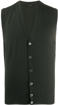 Knitted Button-Down Waistcoat