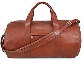 Brunello Cucinelli Men's Textured Leather Duffle Bag