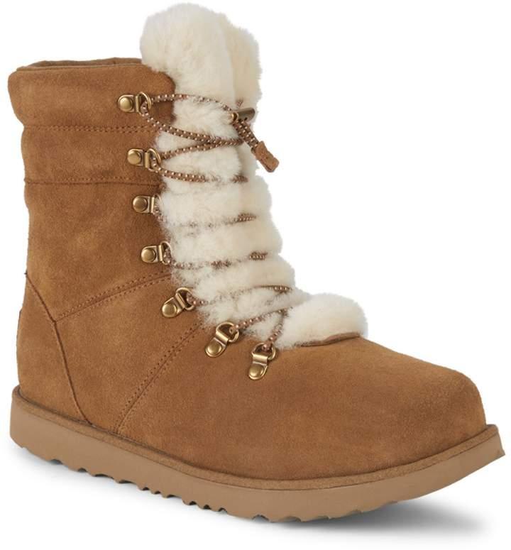 122025ea55f Girl's Viki Waterproof Suede & Sheepskin Boots