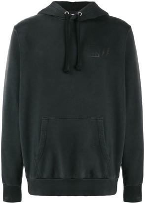 Diesel treated distressed hoodie